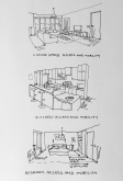 Sketch of interior access and mobility