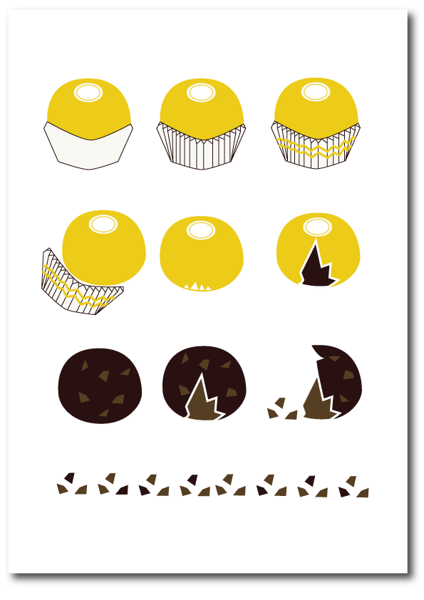 Ferrero Roche illustration print
