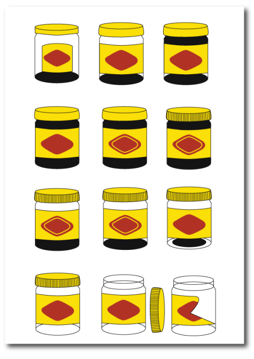 Vegemite pop art illustration