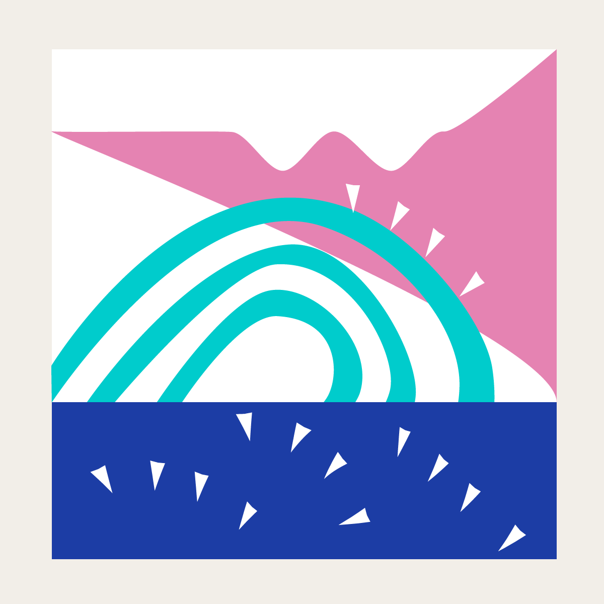 Summer waves illustration