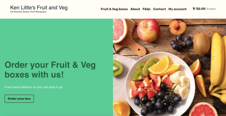 Ken Little's Fruit and Veg e-commerce website