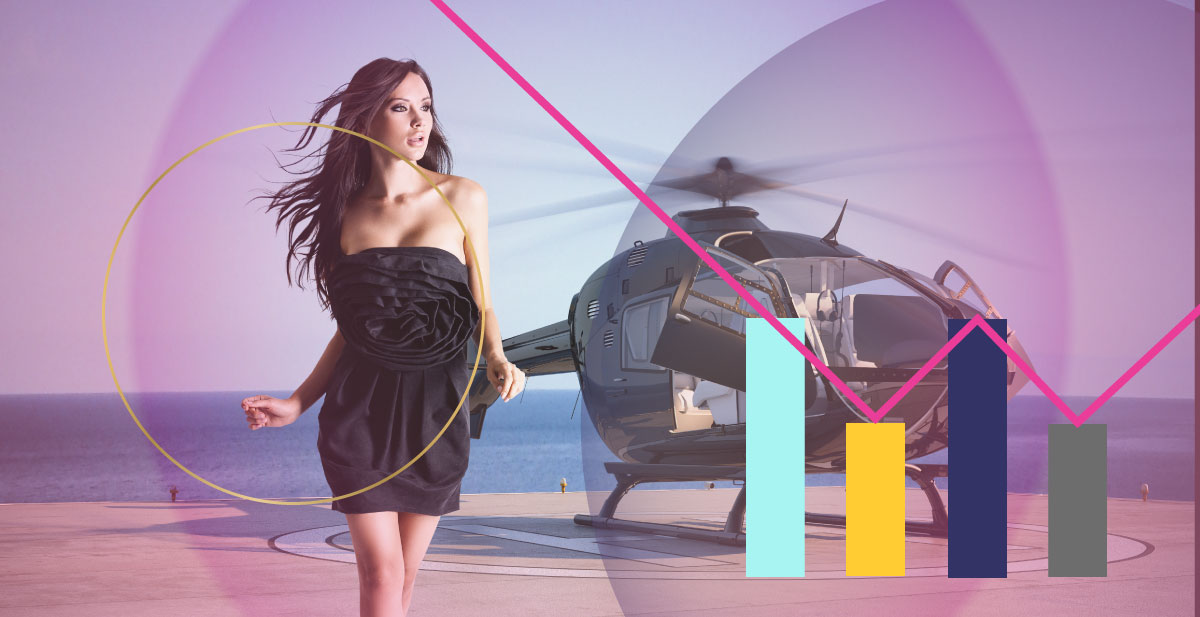 Woman with a helicopter - Digital Advertising